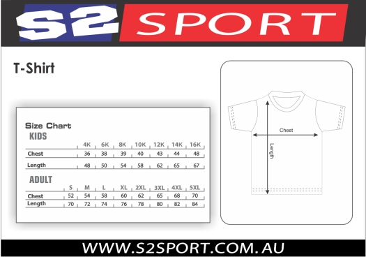 S2 Sports Sizing Chart Guide 2-6